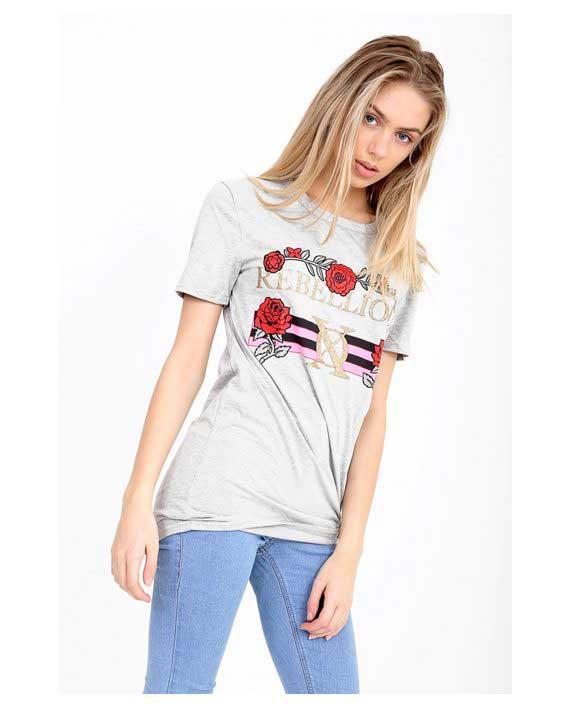 Rebellious T-Shirt grey 1