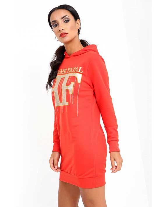 Femme fatale Hoodie Dress