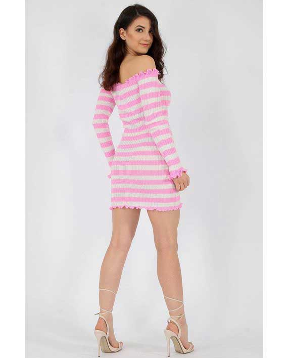Tettsittende Knit Dress Rosa