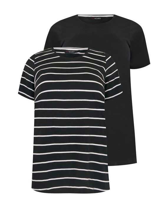2 pk T-Shirt Svart