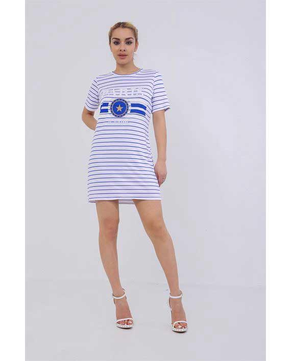 Paris T-Shirt dress Blue 1
