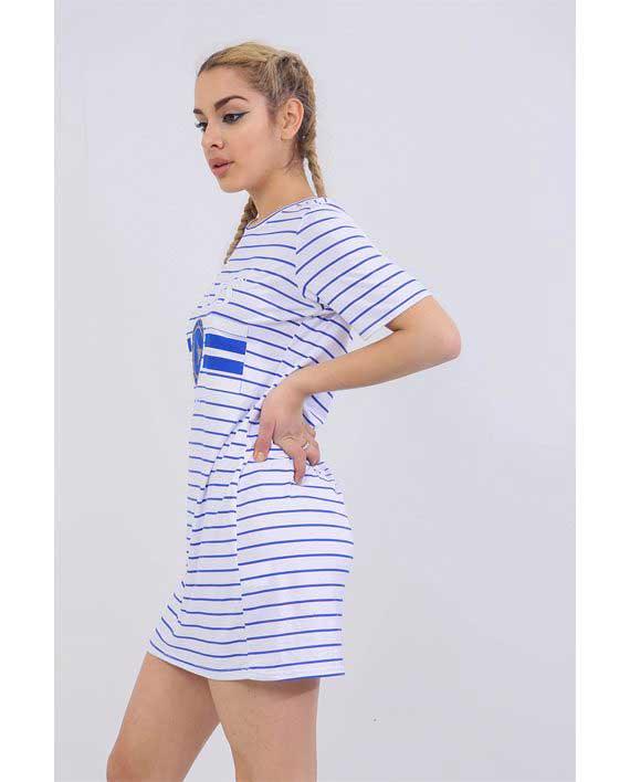 Paris tshirt dress Blue 3