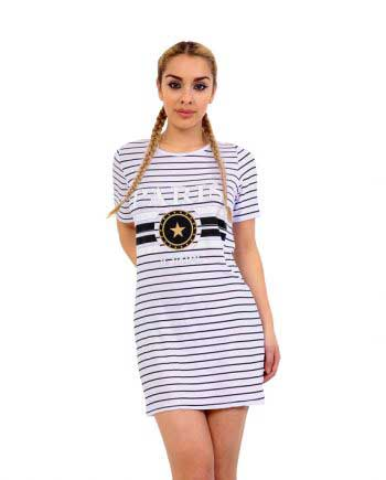 Paris T-Shirt Dress black