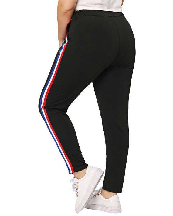 Mixed Side Stripe Pants