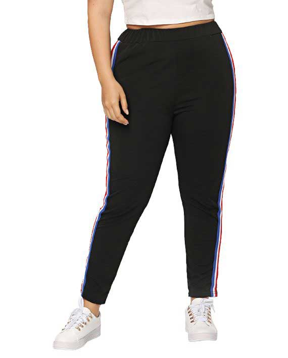 Mixed Side Stripe Pants
