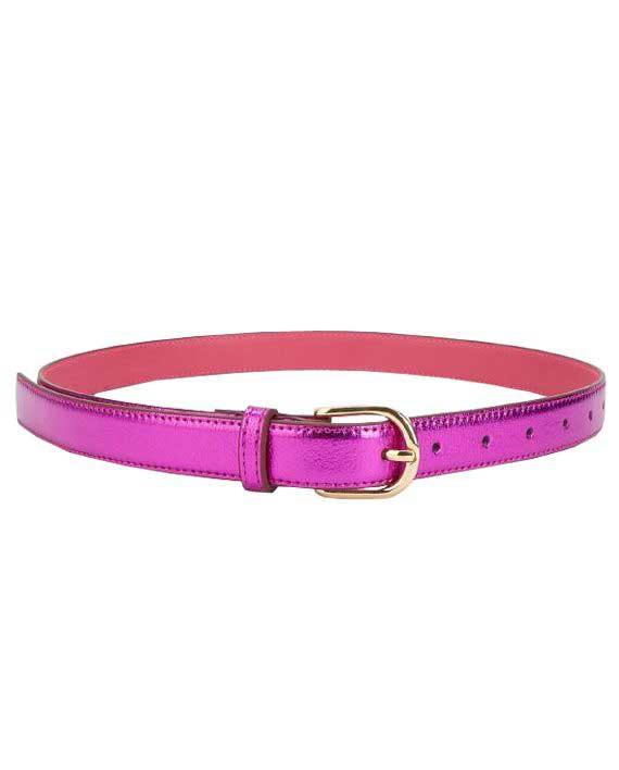 Rosa Metallic Belte