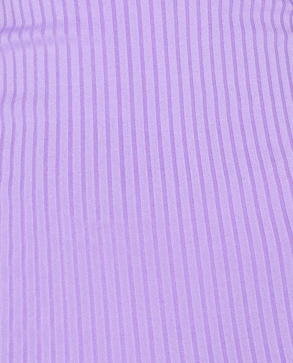 One Shoulder Rib Knit Kjole Lilac