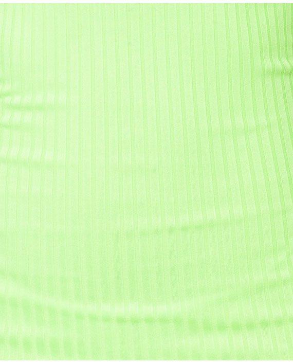 Neon Strappy Rib Knit Kjole
